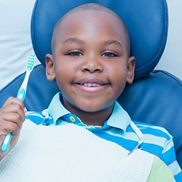 little boy at dentist