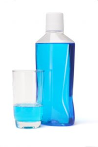 bottle mouthwash glass mouthwah